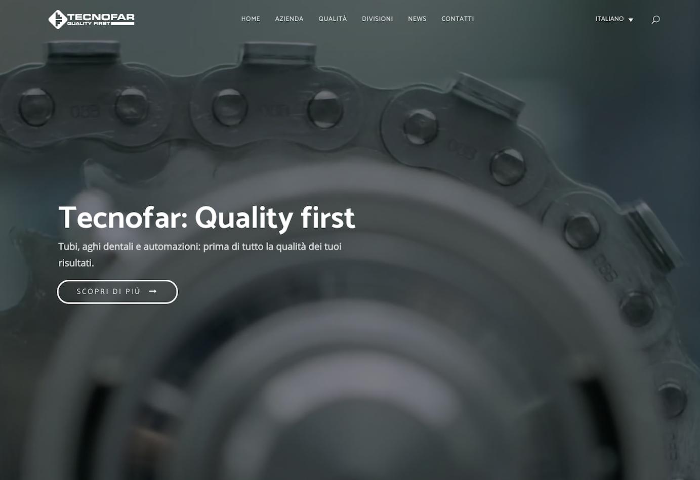 Nuovo sito di Tecnofar