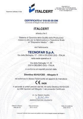 Certificazione 018-05-00-DM